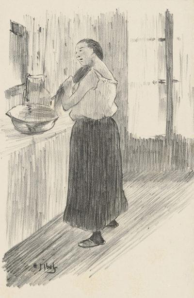 Henri Gabriel Ibels Woman at her Toilet (Femme à sa toilette)