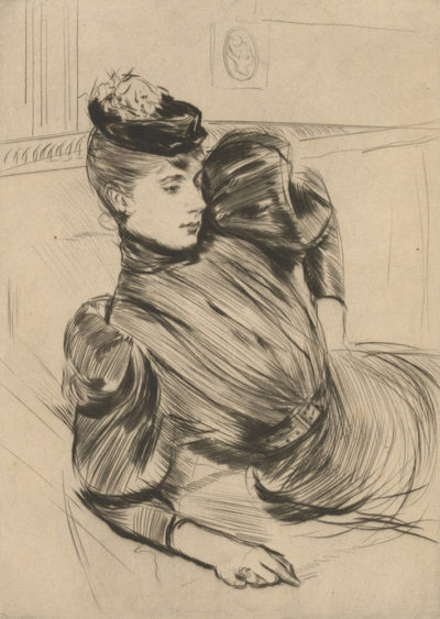 Paul César Helleu Woman on a Couch