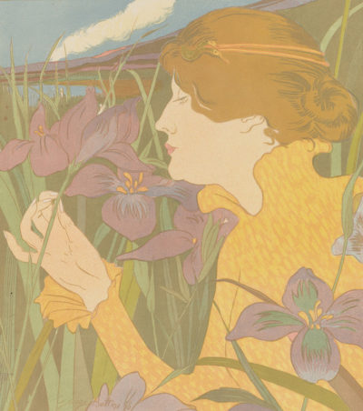Georges Alfred Bottini Woman with Iris (La femme aux iris)