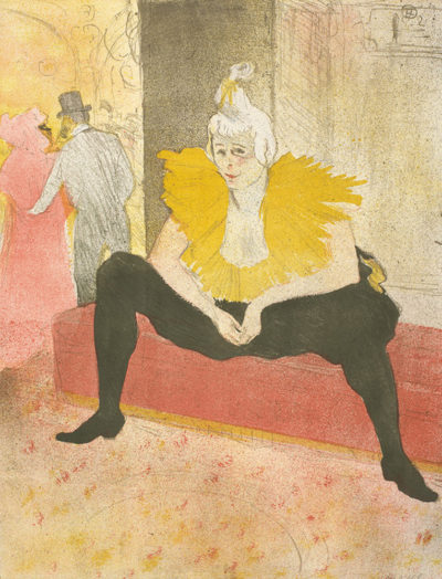 Henri de Toulouse-Lautrec Seated clowness (Mademoiselle Cha-u-ka-o) (La clownesse assise (Mademoiselle Cha-u-ka-o)) from the series Elles