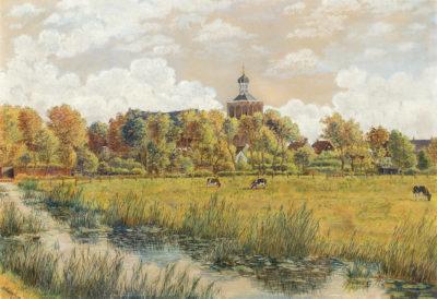Efkes Thûs Gezicht op Workum 1942