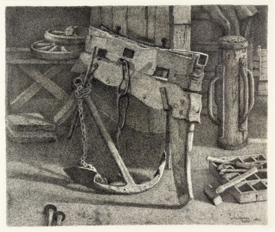 Efkes Thûs Het anker in de schuur van Jopie Huisman 1973