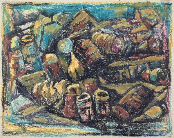 Efkes Thûs Lege olievaten en -blikken 1967