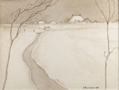Efkes Thûs Sneeuwlandschap 1978