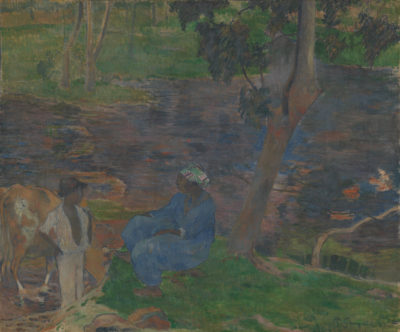 Paul Gauguin On the Banks of the River at Martinique