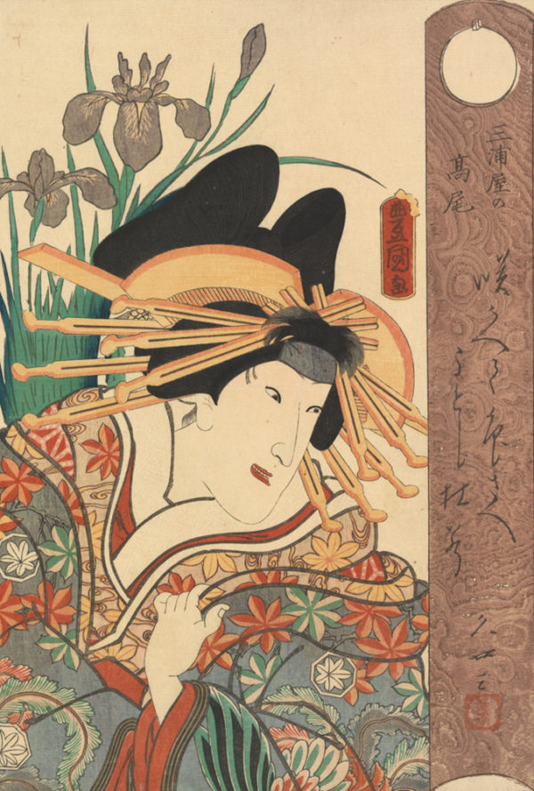 Utagawa Kunisada Actor in the Role of the Courtesan Takao of the Miura House
