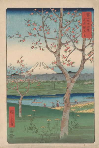 Utagawa Hiroshige The Outskirts of Koshigaya in Musashi Province