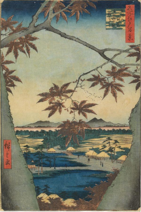 Utagawa Hiroshige The Maple Trees at Mama