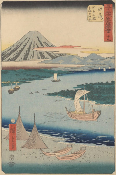 Utagawa Hiroshige Ejiri: Tago Bay and the Pine Forest of Miho