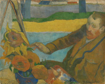 Paul Gauguin Vincent van Gogh Painting Sunflowers