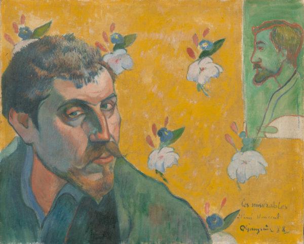 Paul Gauguin Self-Portrait with Portrait of Émile Bernard (Les misérables)
